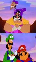 ''Weh heh, its the Stinken' Mario Bros!''