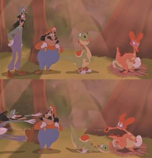 ''Looks like Yoshi found a dino-buddy!''