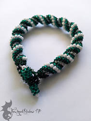 'First Snow' Cellini Spiral Bracelet