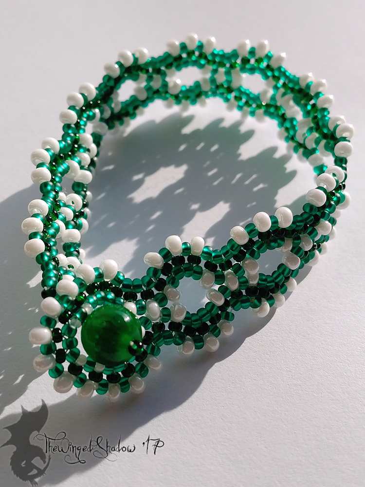 Green Waves Bracelet by TheWingedShadow