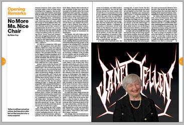 Metal Janet Yellen by Businessweek