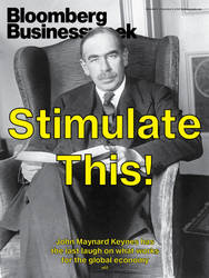 Keynes cover - Stimulate This! by Businessweek