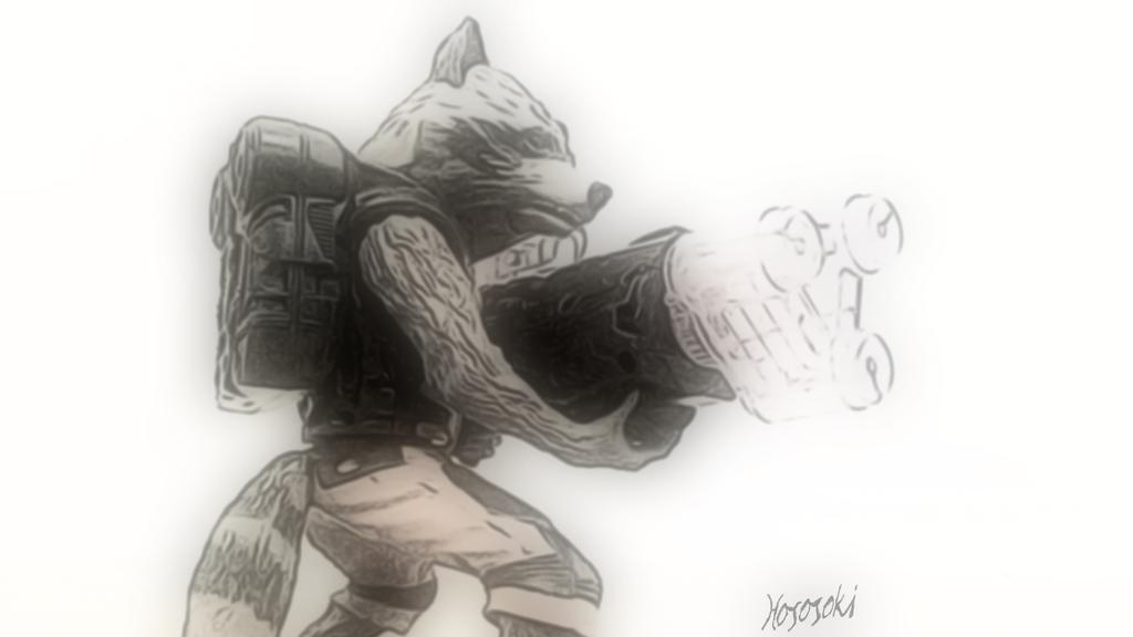 Rocket Raccoon by hososoki
