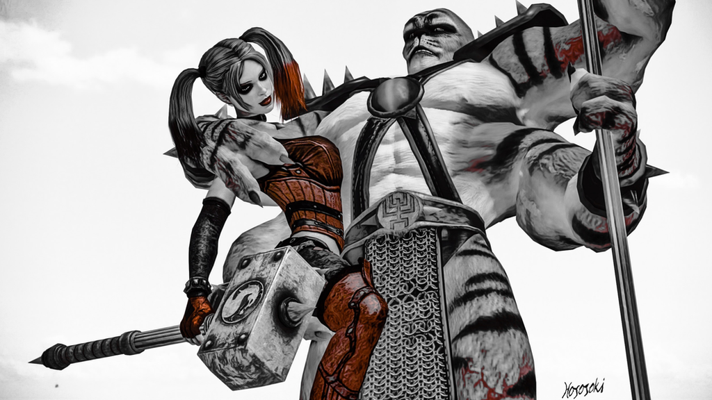 Kintaro and Harley Quinn 02 by hososoki
