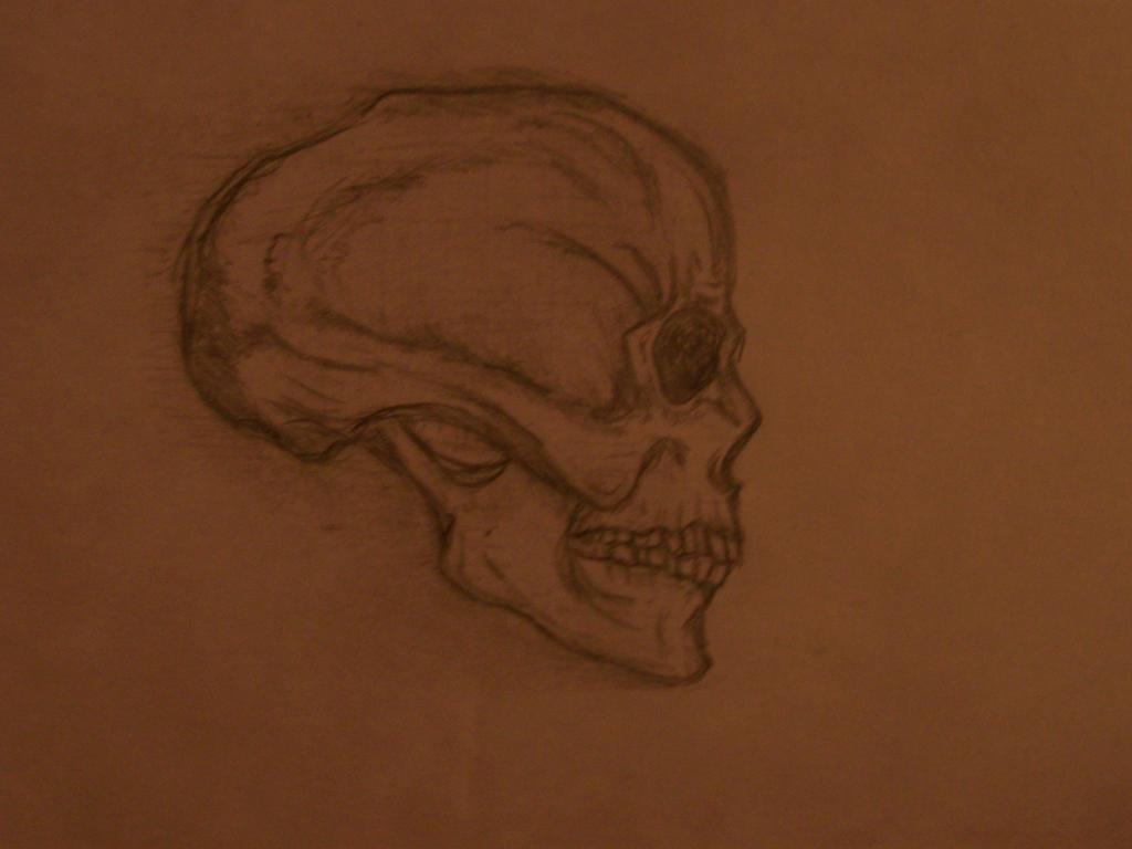 Simple Skull by KanonLovezCello