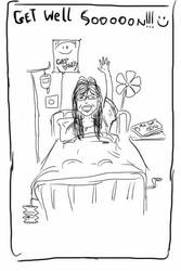Davina in the hospital by kelefeh