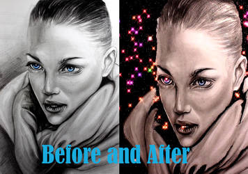 Portrait Drawing the Girl Glittered by ZehraAkbulut
