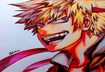Drawing Bakugou Katsuki /  My Hero Academia - Boku by ZehraAkbulut