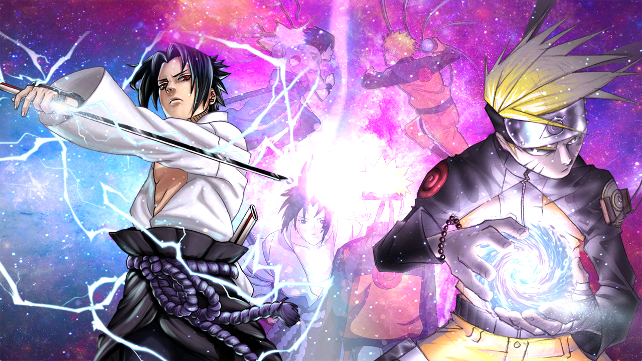 Naruto Vs Sasuke Wallpaper By Sapphireyanou On Deviantart