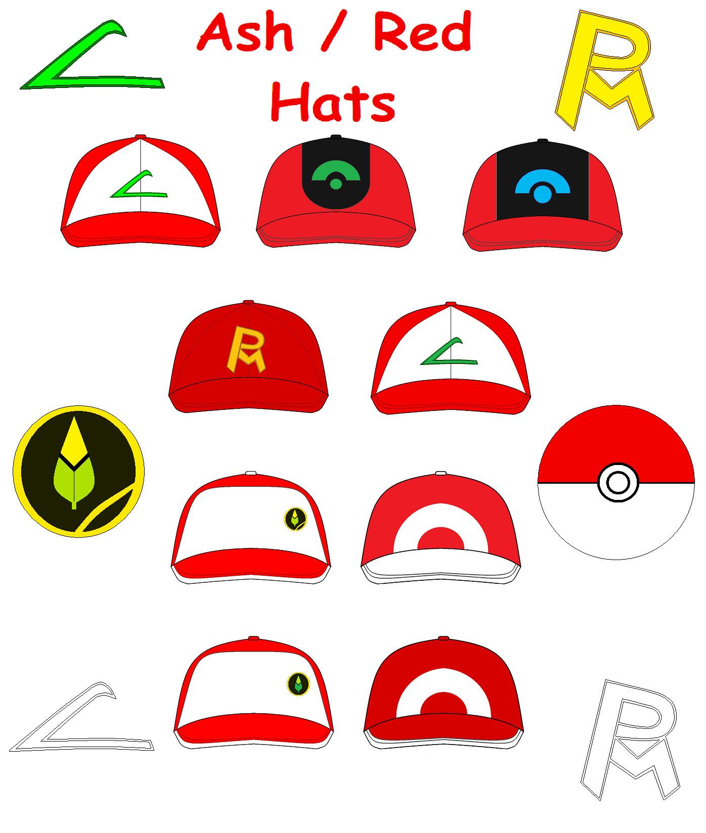 Ash And Red Hats By Saiturtlesninjanx On Deviantart