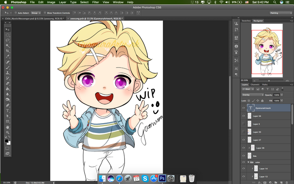 [WIp] Yoosung in Mystic Messenger by gyomura19