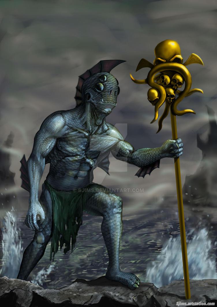 Aqua creature by Sjims