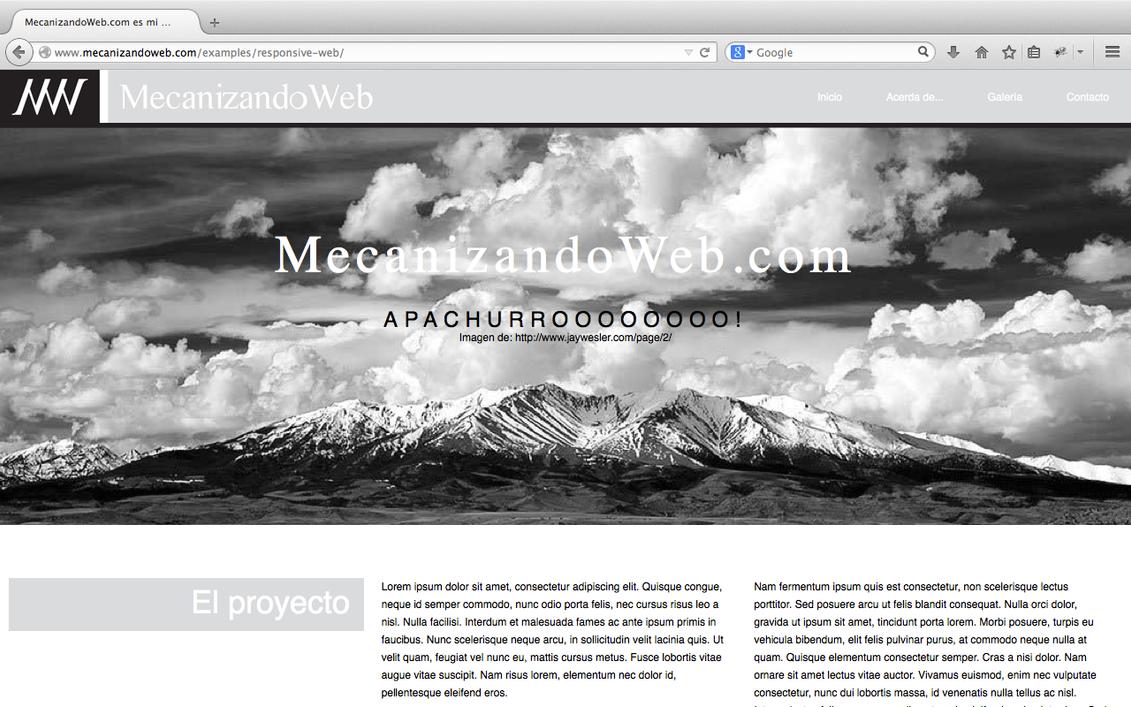 Plantilla Web Responsiva HTML5 CSS3 Gratis by gabOdesign on DeviantArt
