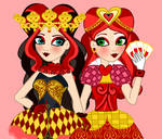 Libby Hearts and Lizzie Hearts without face paint by JanelleMeap