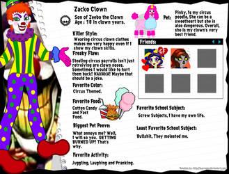 Zacko Clown Bio by JanelleMeap