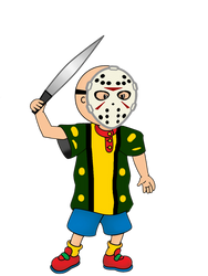 Caillou as Jason Voorhees by JanelleMeap
