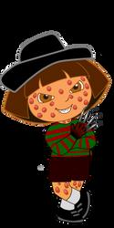 Dora the Explorer as Freddy Krueger by JanelleMeap
