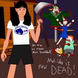 Angela Baker kills Matilda by JanelleMeap