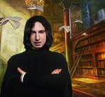 Professor Snape in Library
