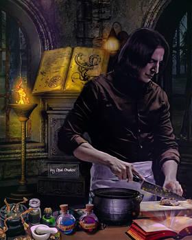 Severus Snape in His Workroom