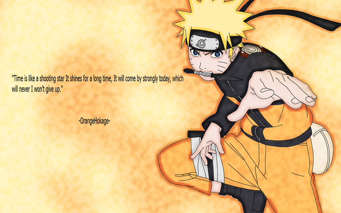 Naruto Uzumaki by Naruto About Never Giving Up