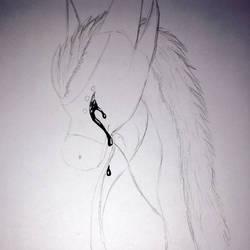 Black tears  by DragonFan656