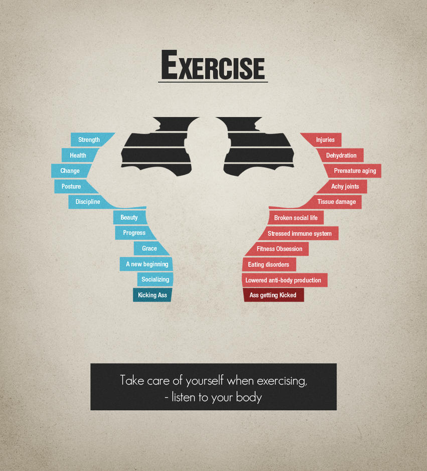 Exercise - Don't overdo it! by schaltzdesign