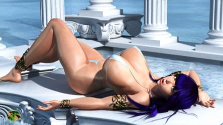 Athena's sunbath time