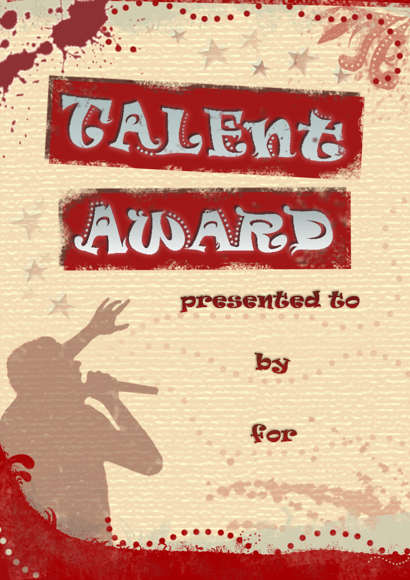 Talent Quest Certificate One by ingulous on DeviantArt
