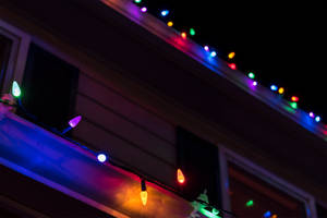 Rooftop Christmas Lights by Chillstice