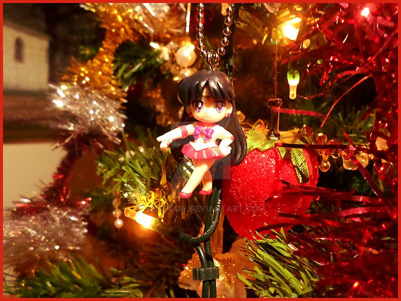 Sailor Mars and Christmas by Reiofuda