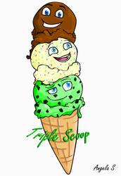Triple Scoop Ice-Cream