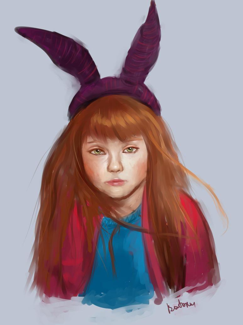Girl-bunny by batoriii