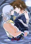 SoraXRiku in your arms by twinklee