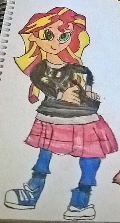 Sunset Shimmer as Ash by JinxBatstar