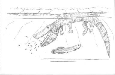 Pelican croc by Desertsabertooth