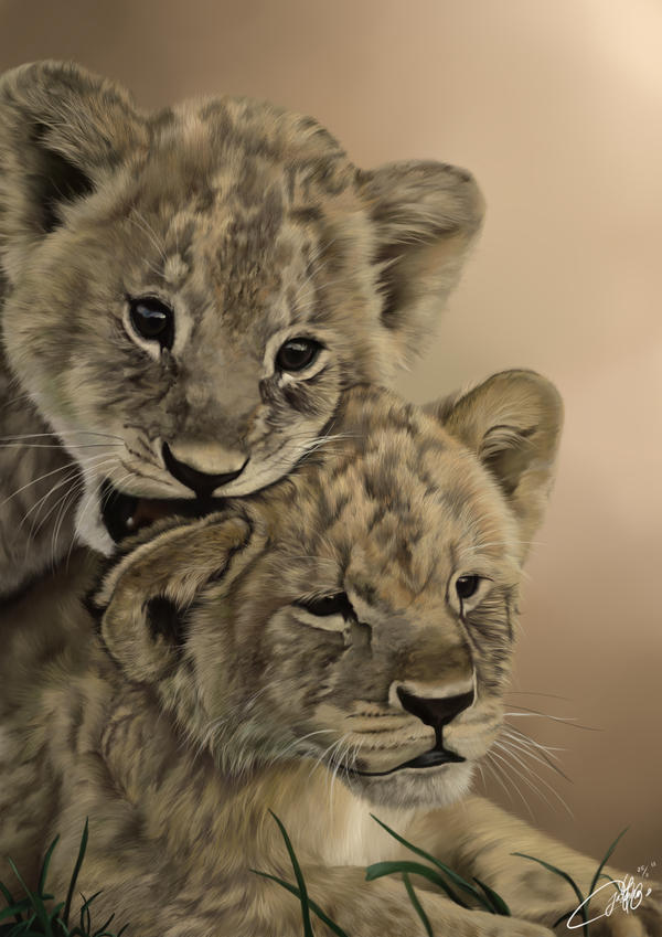 The Lion Cubs by josephinekazuki