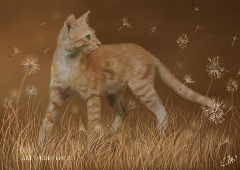 Dandelion Cat by josephinekazuki