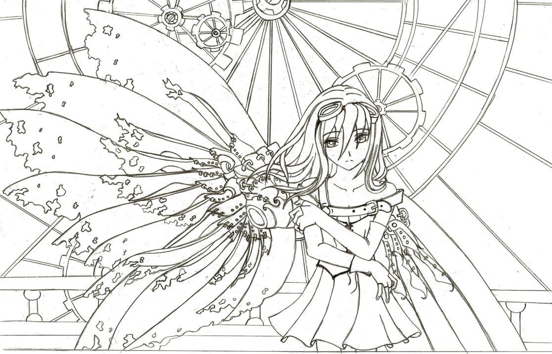 Steampunk Fairy Lineart By Nimmxx On DeviantArt
