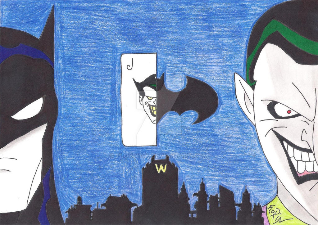 Batman vs Joker ( My Color ) by Florin14k