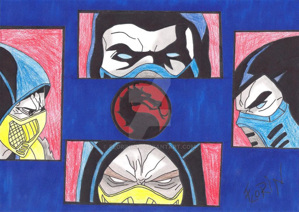 Scorpion vs Sub-Zero ( My color ) by Florin14k