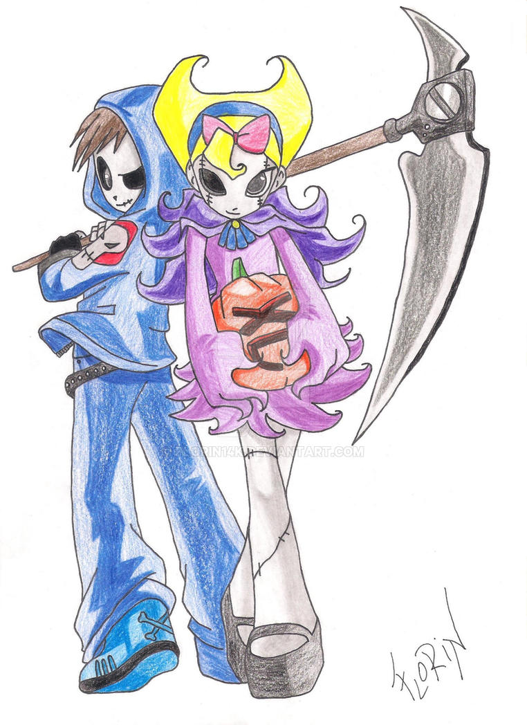 Grim Jr. and Minimandy ( My color ) by Florin14k