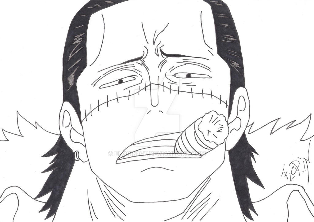 One Piece Lineart : Crocodile one piece lineart by florin14k on deviantart