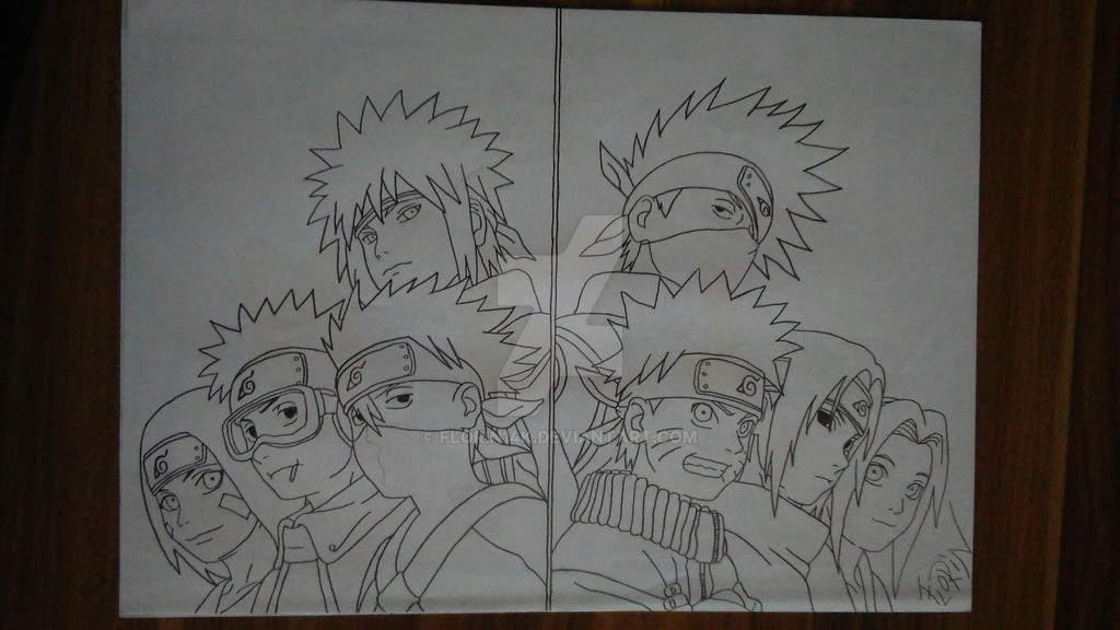 Naruto new and old Team 7 by Florin14k