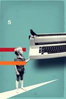 bird on a typewriter by mbym