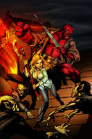 Buffy and Hellboy COLOR by tabu-art