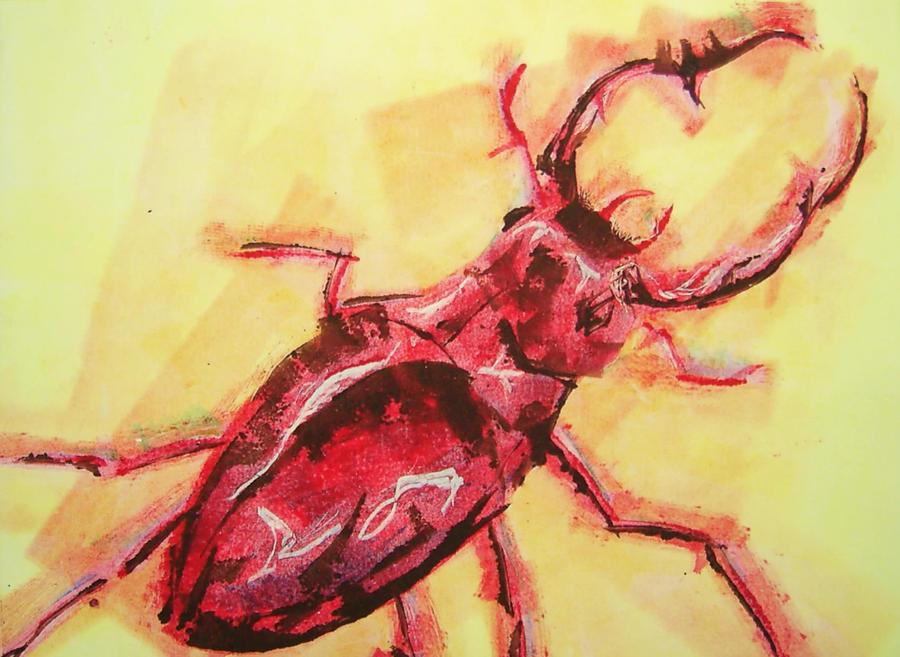 Stag Beetle 2 by Brokenopenseed