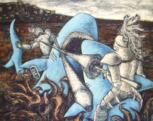 Shark Jousting - Final Version by Brokenopenseed
