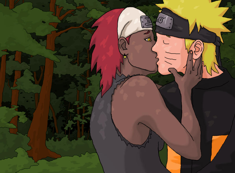 Naruto and Karui In Love by Brokenopenseed