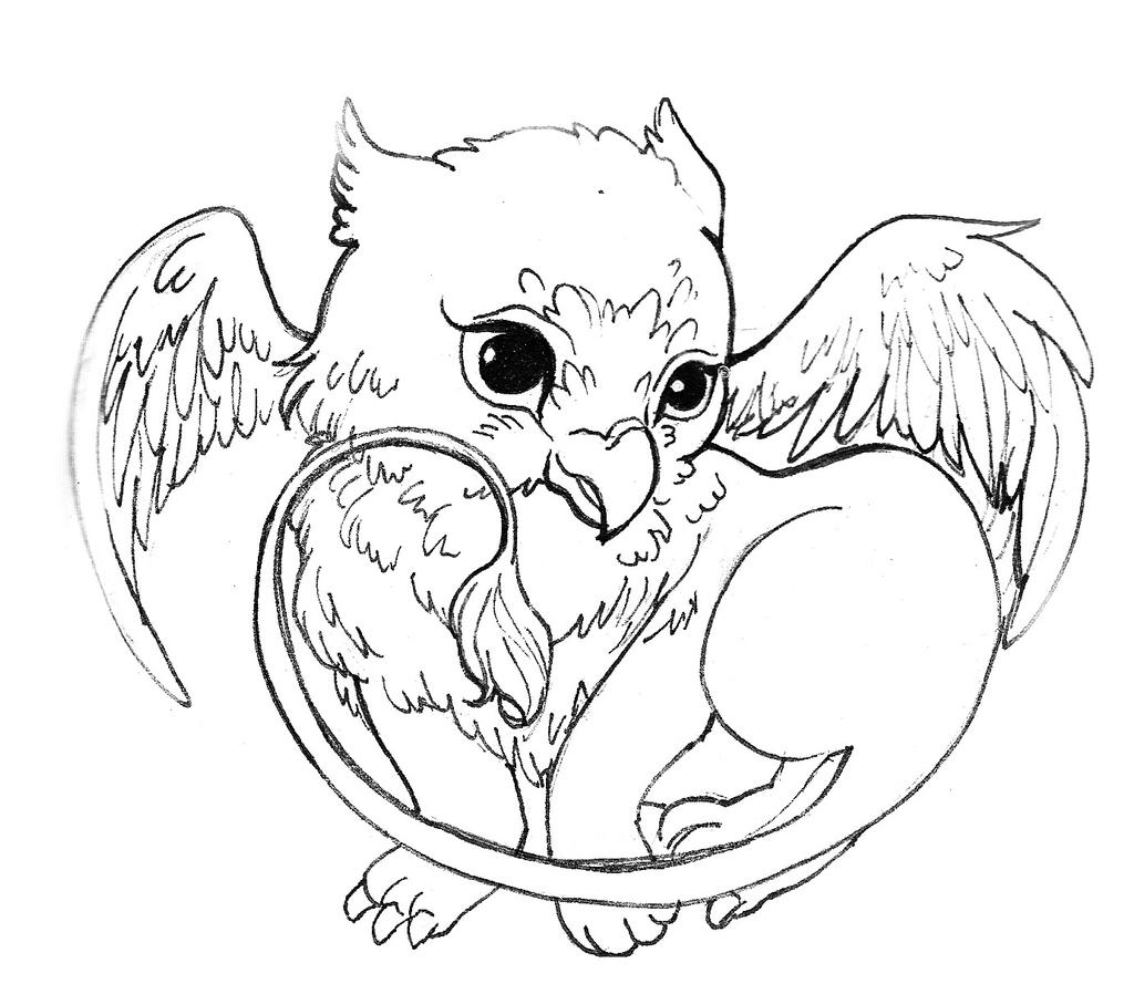 griffin coloring pages - cute griffin by acorna252525 on deviantart